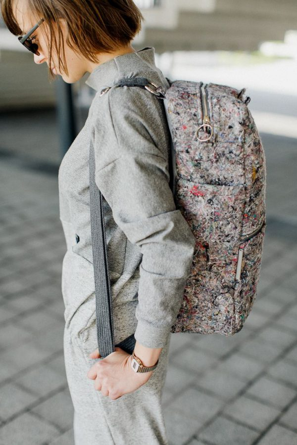 Plecak NOSIDŁO ZMIENNE. Wielofunkcyjny pojemny stylowy plecak wykonany z materiału z recyklingu, jakim jest filc. Polski handmade.