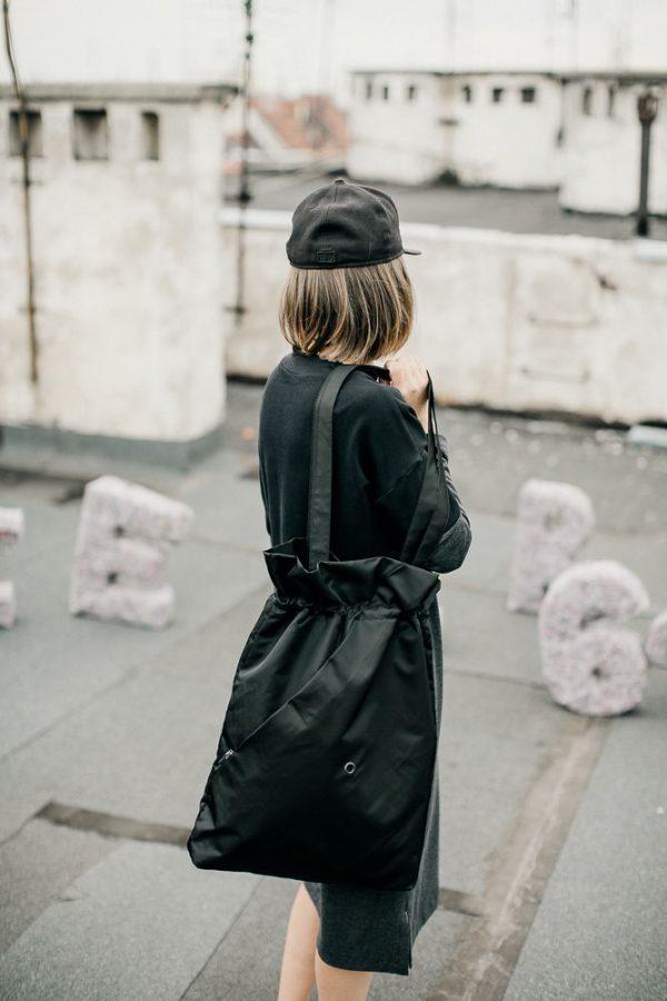 Czarna miejska torba damska. Miejski styl.
