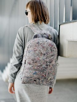 JUMBLE BACKPACK. Clasisc shape but modern spirit. Gray backpack made from recycled material (felt) for women. Everyday backpack.