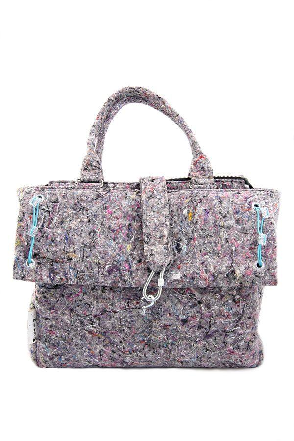 INDUSTRIAL BAG xxl. Industrail style handbag for women. Recycled material. Felt.