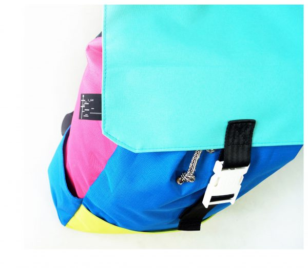 ALMOST BLACK xxl. Very Large. XXL colorful everyday backpack for her. For women. Also suitable for city small travel.