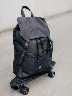 backpack COLLAGE BLACK comfortable black, unisex, original, handmade in poland