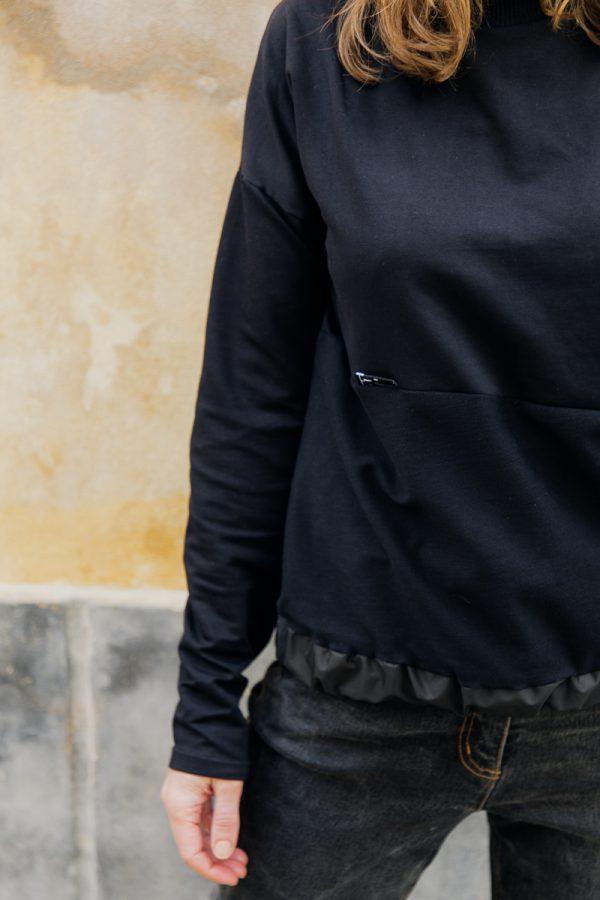 Czarna bluza KAWKA