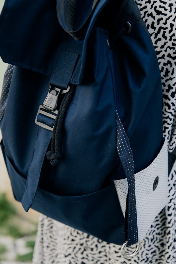 Plecak damski miejski granatowy