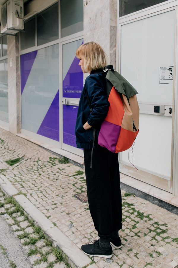ALMOST BLACK xxl. 2 Very Large. XXL colorful everyday backpack for her. For women. Also suitable for city small travel.