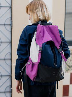 plecak Śliwka . Kolorowy, damski plecak miejski. Bardzo pojemny.