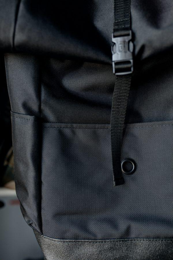Czarny plecak Kruk unisex stylowy