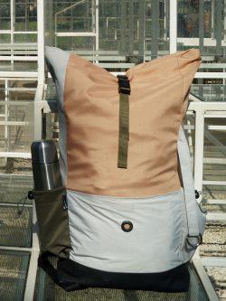 plecak Albania - uniwersalny stylowy plecak. Wykonany ręcznie z wodoodpornej kodury i ortalionu. Polski Handmade.