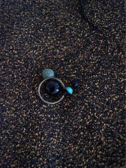 naszyjnik MECH - ręcznie robiony kolorowy naszyjnik z lawą wulkaniczną, biżuteria handmade