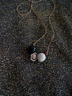 naszyjnik _ PIASEK - ręcznie robiony kolorowy naszyjnik z lawą wulkaniczną, biżuteria handmade