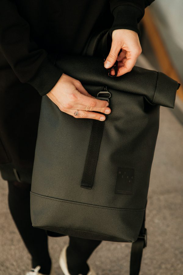 backapck ECLIPSE comfortable, original, everyday use backpack,  unisex, for laptop, black