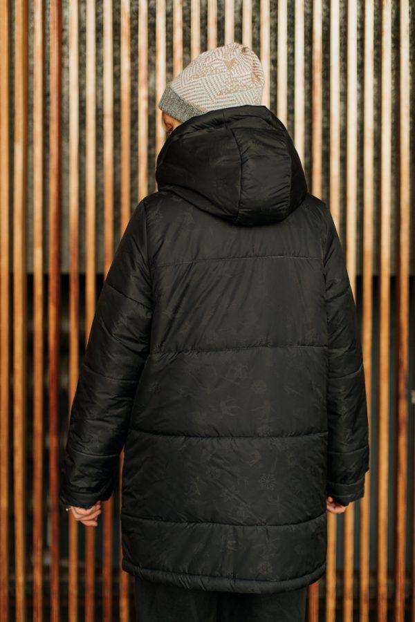 kurtka Śnieżka pikowana duża czarna ciepła kurtka damska, zimowa, szyta ręcznie w Polsce