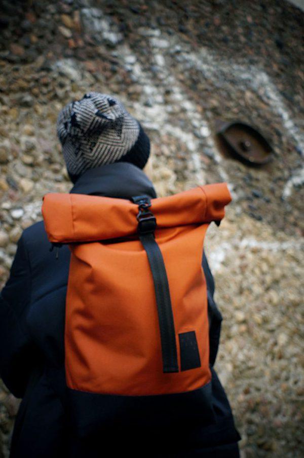backapck DIRTY ORANGE comfortable, original, everyday use backpack,  unisex, for laptop